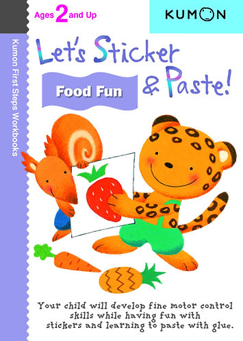 Libro kumon: Let's sticker and paste