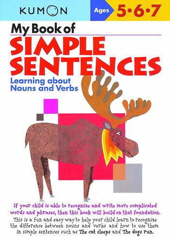 Libro kumon: My book of simple sentences
