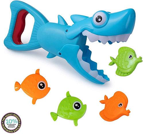 Juguete De Baño Pinza Motricidad Tiburón