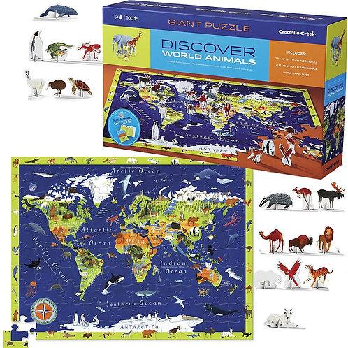 Rompecabezas 100 piezas Animales por el mundo