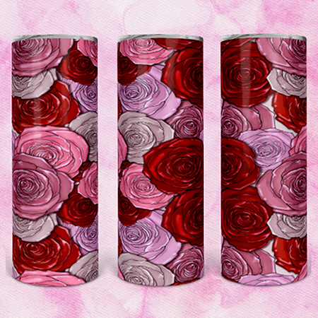 Roses 20 or 30oz Skinny Custom Tumbler