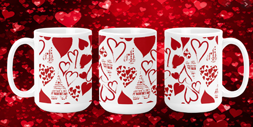 Heart Art 15oz Valentine Mug