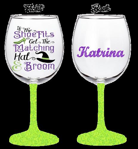 20oz Halloween If The Shoe Fits Wine Glass