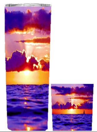 Purple/Yellow Beach 20 or  30oz Summer Wrap Tumbler