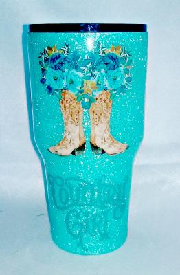 Country Girl Boots Custom 30 oz Tumbler