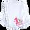Thumbnail: Baby Girl 1st Easter Ruffled or Scalloped Edge Burp Cloth