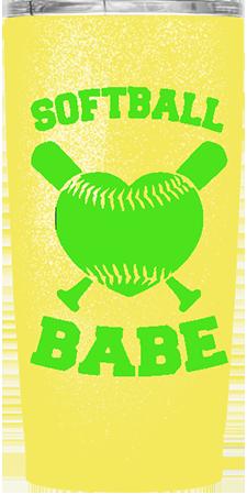 Softball Babe Custom Tumbler