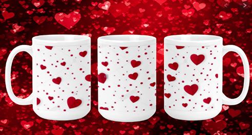 Hearts & Dots 15oz Valentine Mug