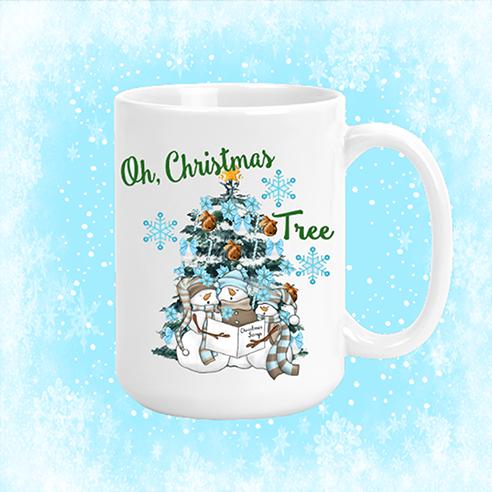 Oh Christmas Tree Snowmen Mug