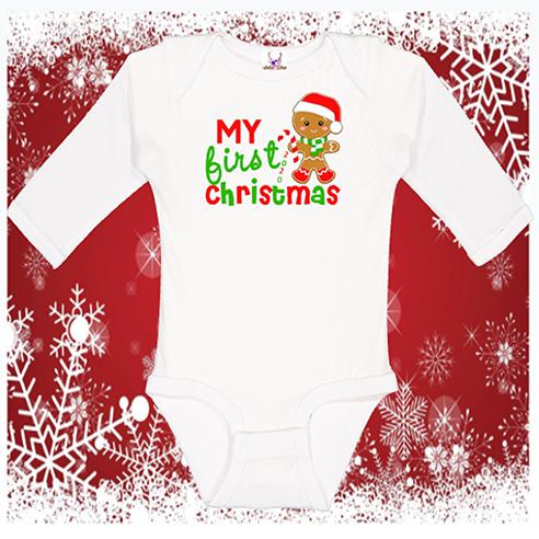 My 1st Christmas Longsleeve Onesie