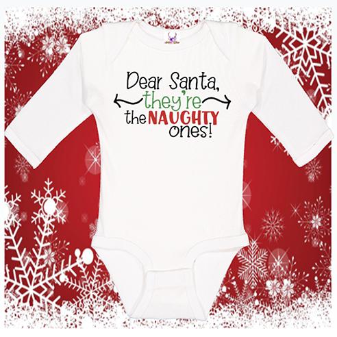Dear Santa Longsleeve Onesie or Toddler Tee