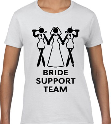 Bride Support Team Bridal Tee