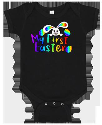 1st Easter Rainbow Bunny Onesie