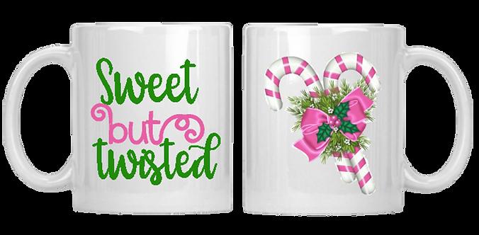 Sweet But Twisted Pink & Green Mug