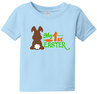 1st Easter Chocolate Bunny Boys Infant/Toddler Tee