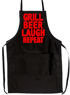 Grill Beer Laugh Repeat Grill Apron