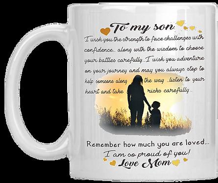 To My Son Mug