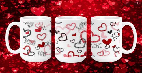 Love Hearts 15oz Valentine Mug