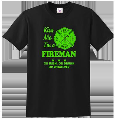 Kiss Me I'm A Fireman Tee