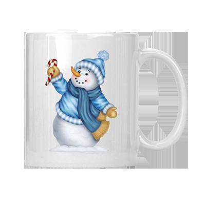 Baby It's Cold Outside Blue Snowman Mug