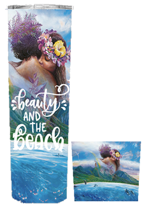 Beauty & The Beach 20 or 30 oz Summer Wrap Tumbler