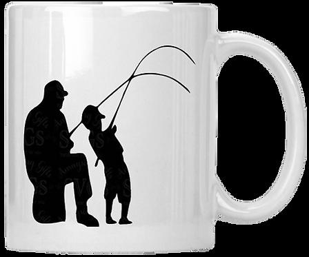 Grandfather Grandson Fishing Coffee Mug