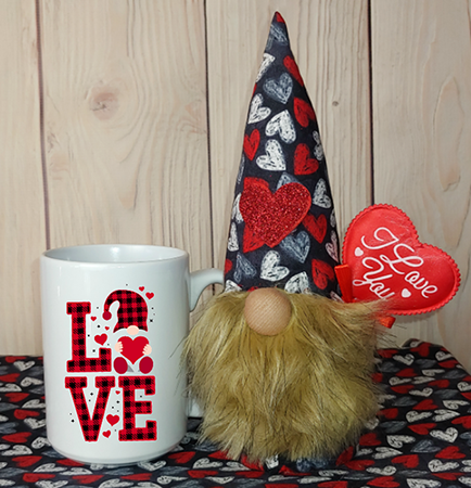 Love Gnome In A Mug 150z Valentine Mug