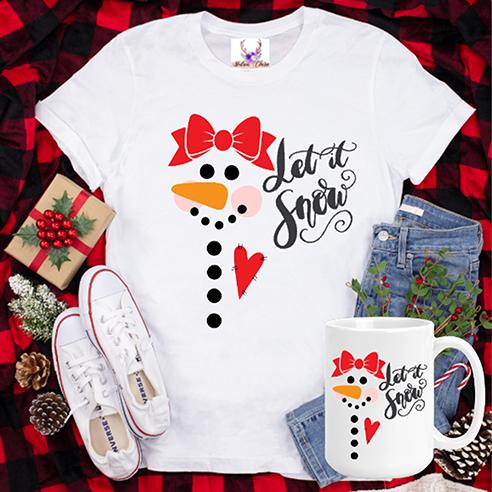 Let It Snow Snowgirl Tee