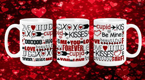 Valentine Words 15oz Valenting Mug