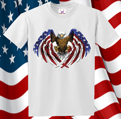 Eagle Flag Wings Tee