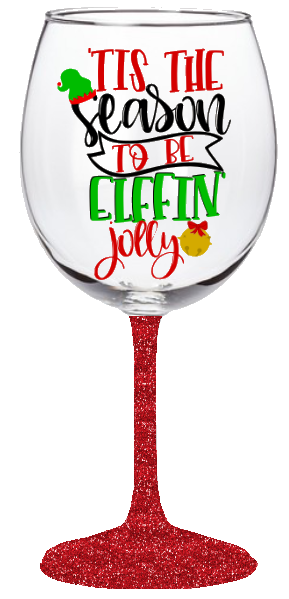 20oz Elfin Jolly Wine Glass