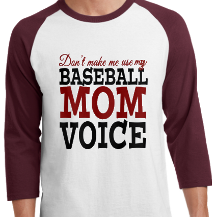 Baseball MomVoice Raglan