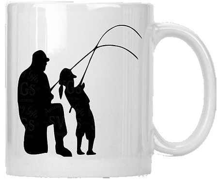 Grandfather Grandaughter Fishing Coffee Mug