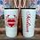 Thumbnail: 20 oz. Black Glitter Cupid Split Heart Custom Travel Mug