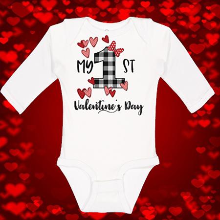 1st Valentines Onesie