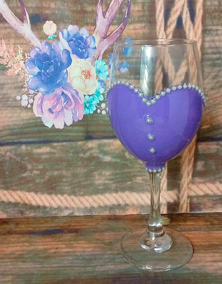 20 oz Bridal Party or Bride's Wine Glass