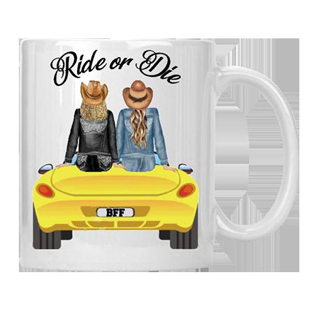 Ride or Die BFF Mug (option B)