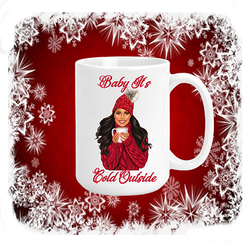 Baby Its Cold Outside Red Mug