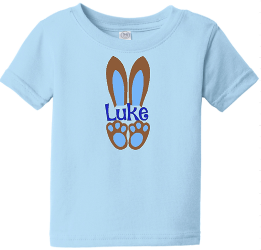 Bunny Ears with Name Infant/Toddler Boys Tee
