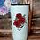 Thumbnail: 20 oz. Black Glitter Red Roses & Pearls Custom Travel Mug