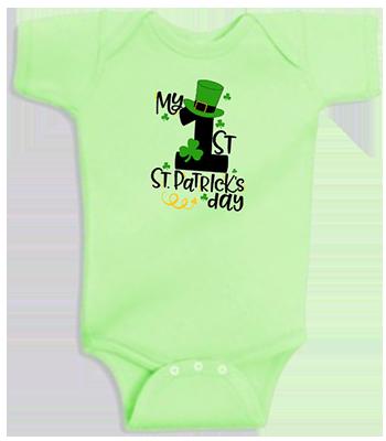 1st St Patricks Day Tophat Infant Onesie