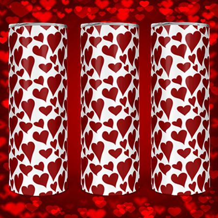 Red Hearts 20 or 30oz Custom Tumbler