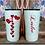 Thumbnail: 20 oz. White Glitter Colored Hearts Custom Travel Mug