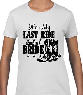 Last Ride Bridal Tee
