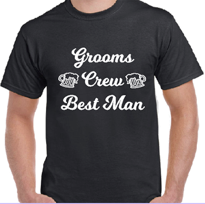 Grooms Crew Best Man Grooms Tee