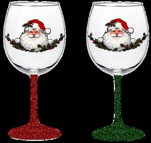20oz St Nick Wine Glass