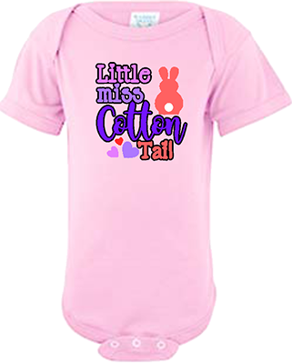Little Miss Cotton Tail Infant Onesie