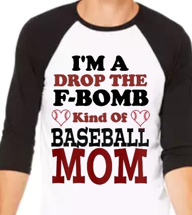 F Bomb Baseball Mom Raglan