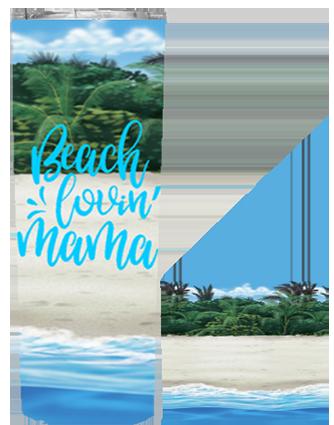 Beach Lovin Mama 20 or 30 oz Skinny Wrap Tumbler