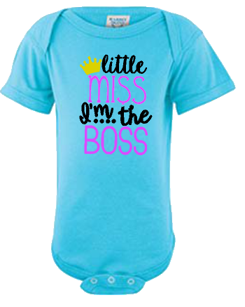 Lil Miss I'm The Boss Infant Onesie or Tee
